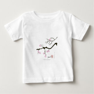 7 sakura blossoms with pink bird, tony fernandes baby T-Shirt