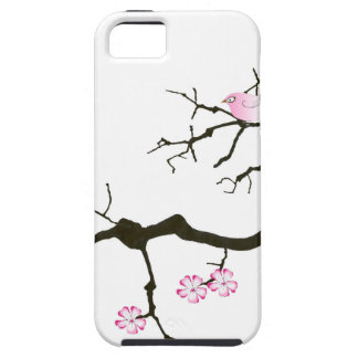 7 sakura blossoms with pink bird, tony fernandes case for the iPhone 5