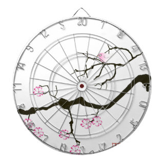 7 sakura blossoms with pink bird, tony fernandes dartboard