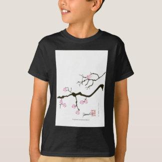 7 sakura blossoms with pink bird, tony fernandes T-Shirt