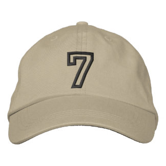 """""""7"""" Small Athletic Number Embroidered Baseball Cap"""