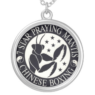7 Star Mantis Chinese Boxing Logo Silver Plated Necklace