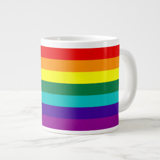 7 Stripes Rainbow Gay Pride Flag Jumbo Mug