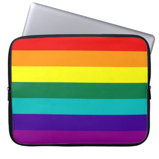 7 Stripes Rainbow Gay Pride Flag Laptop Sleeve