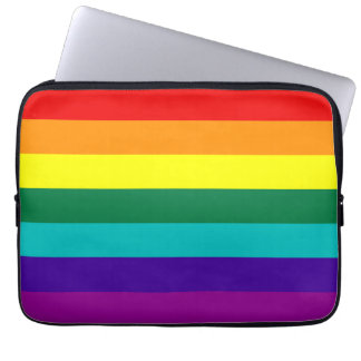 7 Stripes Rainbow Gay Pride Flag Laptop Sleeve
