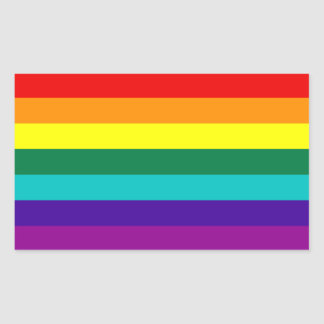 7 Stripes Rainbow Gay Pride Flag Sticker