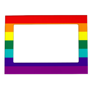 7 Stripes Rainbow Pride Flag Magnetic Picture Frame