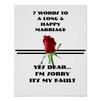 7 Words To A Long And Happy Marriage - Poster