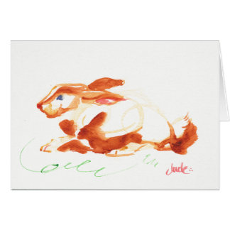 "7"" x 5"" Bunny Greeting Card, White Envelopes inc. Card"