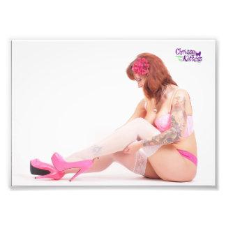 "7"" x 5"" Chrissy Kittens Checking My Stockings Photo Print"