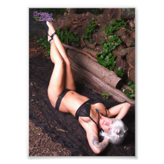 "7"" x 5"" Chrissy Kittens Dagger and Logs Photo Print"