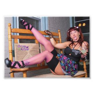 "7"" x 5"" Chrissy Kittens Harley Q Photo Print"