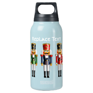 7 Xmas Nutcracker Toy Soldiers Insulated Water Bottle