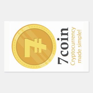 7coin Stickers (rectangular)