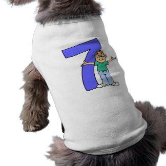 7èmes cadeaux d'anniversaire de garçons t-shirt pour chien