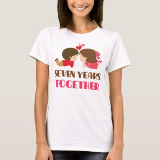 7th Anniversary Gift For Her T-Shirt