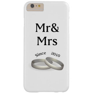 7th anniversary matching Mr. And Mrs. Since 2010 Barely There iPhone 6 Plus Case
