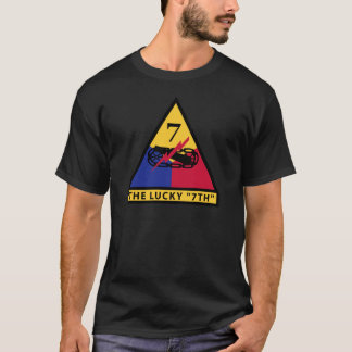 "7th Armored Division - THE LUCKY ""7TH"" T-Shirt"