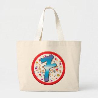 7th Birthday Canvas Bags