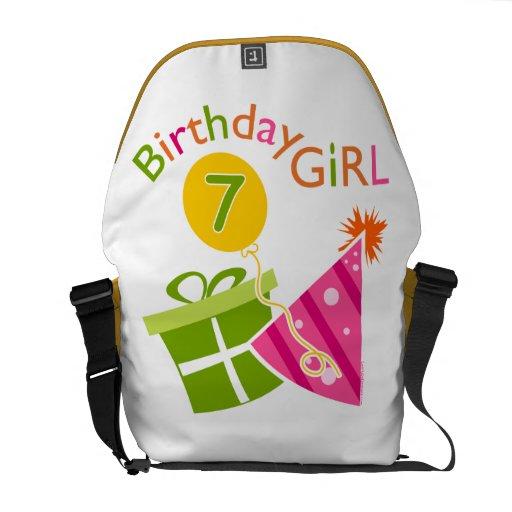7th Birthday - Birthday Girl Messenger Bags
