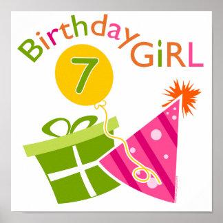 7th Birthday - Birthday Girl Poster