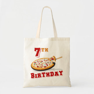 7th Birthday Pizza Party Tote Bags