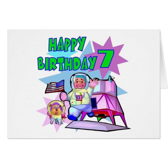 7th Birthday Space Birthday Card
