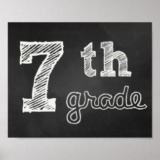7th clay Sign - Chalkboard