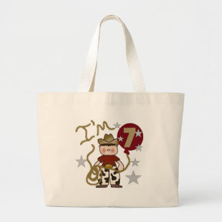 7th Cowboy Birthday Tote Bag