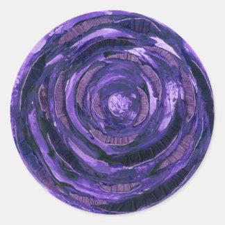 7th-Crown Chakra Healing Art #2 Classic Round Sticker