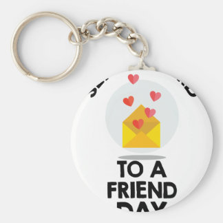 7th February - Send a Card to a Friend Day Basic Round Button Keychain