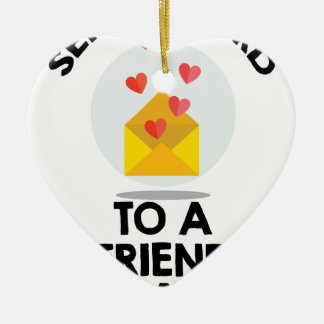 7th February - Send a Card to a Friend Day Ceramic Ornament