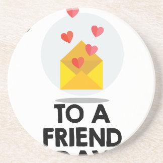7th February - Send a Card to a Friend Day Coaster
