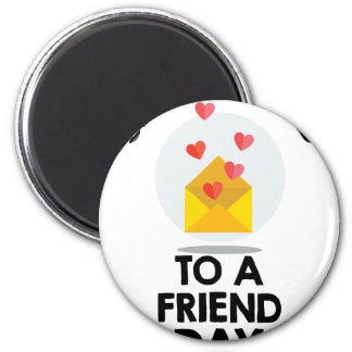 7th February - Send a Card to a Friend Day Magnet