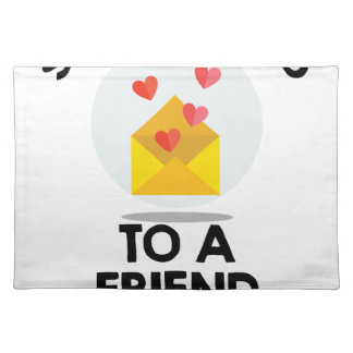 7th February - Send a Card to a Friend Day Placemat