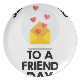 7th February - Send a Card to a Friend Day Plates