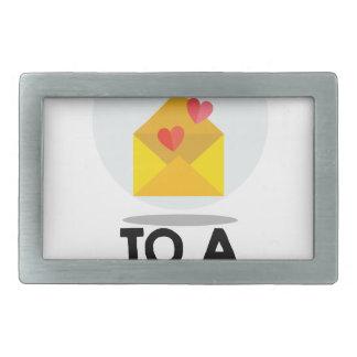 7th February - Send a Card to a Friend Day Rectangular Belt Buckles