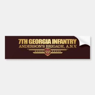 7th Georgia Infantry (1) Bumper Sticker