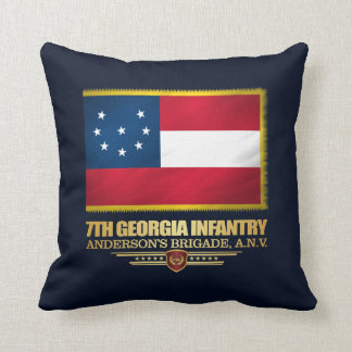 7th Georgia Infantry (1) Throw Pillow