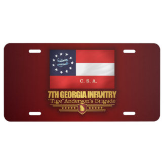 7th Georgia Infantry (2) License Plate
