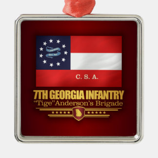 7th Georgia Infantry (2) Metal Ornament