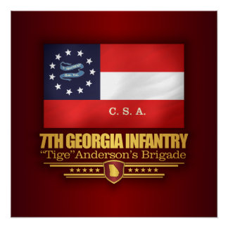 7th Georgia Infantry (2) Perfect Poster