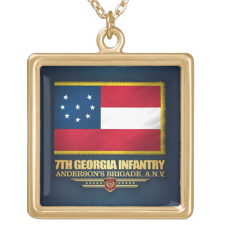 7th Georgia Infantry Gold Plated Necklace