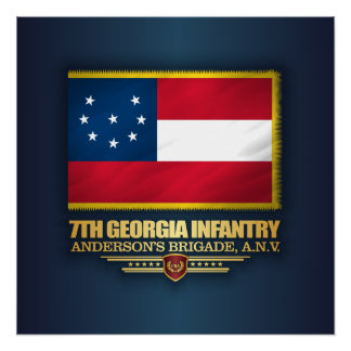 7th Georgia Infantry Perfect Poster