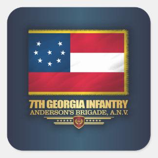 7th Georgia Infantry Square Sticker