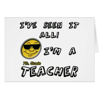 7th. Grade Teacher Greeting Card