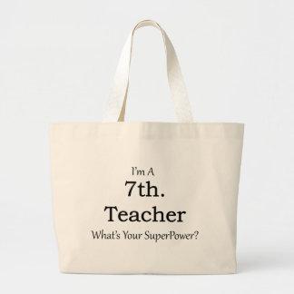 7th. Grade Teacher Jumbo Tote Bag