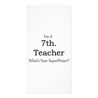7th. Grade Teacher Photo Greeting Card