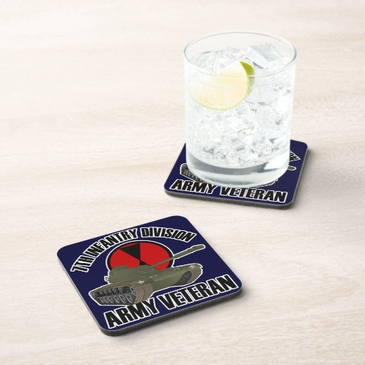 7th ID with M-48 Tank Beverage Coasters