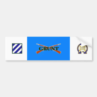 7th Infantry 3rd Inf Div GRUNT Bumper Sticker